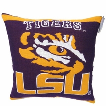 "NCAA LSU ""Tigers"" 20"" Square Decorative Woven Pillow"