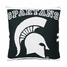 "NCAA Michigan State University ""Spartans"" 20"" Square Decorative Woven Pillow"