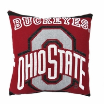 "NCAA Ohio State University ""Buckeyes""   20"" Square Decorative Woven Pillow"