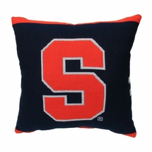 "NCAA  Syracuse University ""Orange""  20"" Square Decorative Woven Pillow"