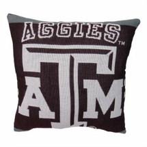"NCAA Texas A&M University ""Aggies"" 20"" Square Decorative Woven Pillow"