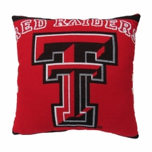 "NCAA Texas Tech University ""Red Raiders"" 20"" Square Decorative Woven Pillow"