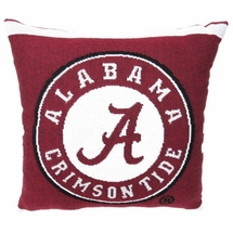 "NCAA University of Alabama ""Crimson Tide""  20"" Square Decorative Woven Pillow by The Northwest Company"