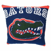"NCAA University of Florida ""Gators""  20"" Square Decorative Woven Pillow"