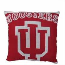 "NCAA University of Indiana ""Hoosiers""  20"" Square Decorative Woven Pillow"