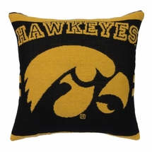 "NCAA University of Iowa ""Hawkeyes"" 20"" Square Decorative Woven Pillow"