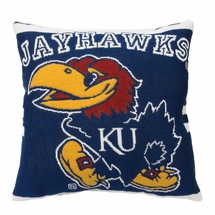 "NCAA University of Kansas ""Jayhawks"" 20"" Square Decorative Woven Pillow"