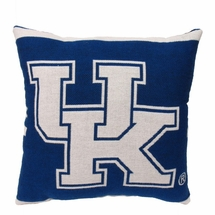 "NCAA University of Kentucky ""Wildcats"" 20"" Square Decorative Woven Pillow"