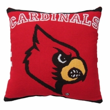 "NCAA University of Louisville ""Cardinals"" 20"" Square Decorative Woven Pillow"