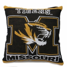 "NCAA  University of Missouri ""Tigers"" 20"" Square Decorative Woven Pillow"