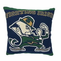 "NCAA University of Notre Dame ""Fighting Irish"" 20"" Square Decorative Woven Pillow"