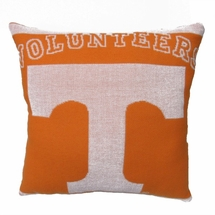"NCAA University of Tennessee ""Volunteers""  20"" Square Decorative Woven Pillow"