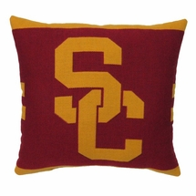 "NCAA USC ""Trojans"" 20"" Square Decorative Woven Pillow"