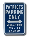 New England Patriots No Parking Sign-Sacked