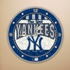 "New York Yankees 12"" Art Glass Clock"