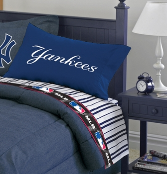 New York Yankees Comforter Sheets Sets Bedding Accessories For Kids Adults