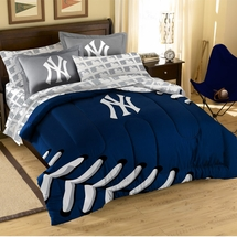 MLB Baseball Sidelines Bedding New York Yankees Mini Bed In A Bag Set