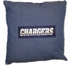 """NFL San Diego Chargers Denim 18"""" Square Pillow"""