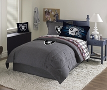 OAKLAND RAIDERS  Denim Comforter & Sheet Set Combo