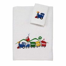 Off Track Kids Trains Towel Set by Avanti Linens