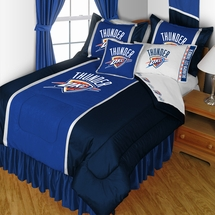 Oklahoma City Thunder Sidelines NBA Basketball Bedding