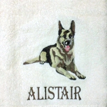 Personalized Embroidered Dog Bath Towels (Set of 2)