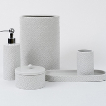 Perugia White Porcelain Bath Accessories  By Caro Home <BR>FREE SHIPPING