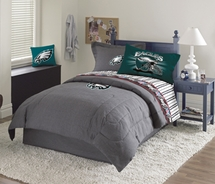 Philadelphia Eagles Denim Pillow Sham or Valance