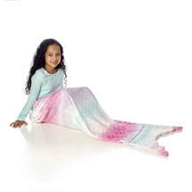 Pink Ombre Mermaid Girls Plush Throw Blanket By Westpoint Home