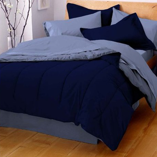 Pipeline Solid Color Reversible ComfortersTwinXL Twin Full - Blue solid color king size comforter