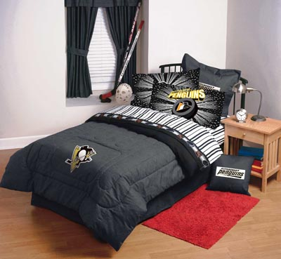 Pittsburgh Penguins Nhl Hockey Bedding, Pittsburgh Penguins Bedding Queen