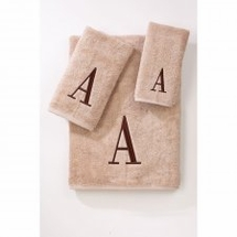 Premier Linen/Brown Monogrammed Towels