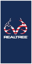 Realtree Americana Beach Towel -100% Cotton