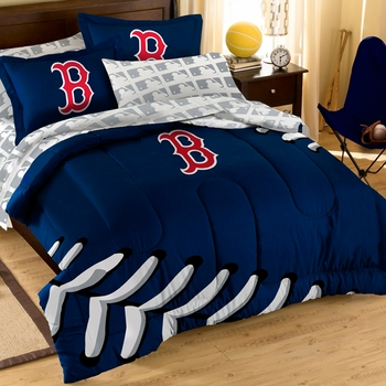 Marvelous Red Sox Comforter Set With Shams