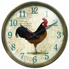 Rooster Resin Wall Clock