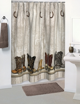 Merveilleux SADDLE UP Shower Curtain Accessories