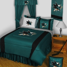 San Jose Sharks NHL Hockey Bedding-Sidelines