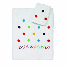 Scattered Dots Bath Towel/Washcloth Set by Avanti Linens