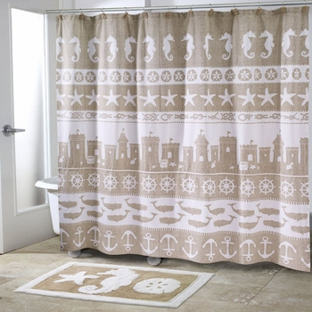 Sea & Sand Shower Curtain and Accessories-Avanti Linens