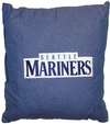 "SEATTLE MARINERS Denim 18"" Square Pillow"