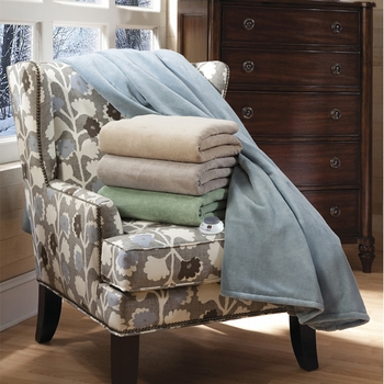 Serta® Luxe Plush Electric Warming Throw