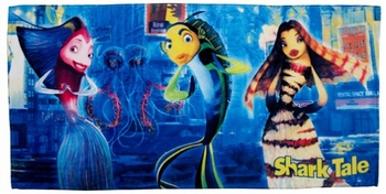 "Shark Tale ""A Swim At Times Square"" Beach Towel"