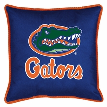 "Sidelines FLORIDA GATORS 17"" Square Pillow"