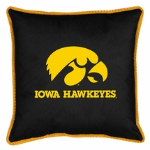 """Sidelines IOWA HAWKEYES 17"""" Square Pillow"""