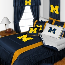 Sidelines Michigan Wolverines Bedding and Accessories