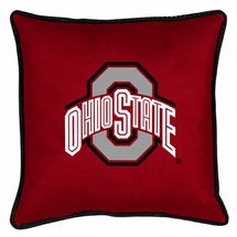 "Sidelines OHIO STATE BUCKEYES 17"" Square Pillow"