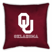 "Sidelines OKLAHOMA SOONERS 17"" Square Pillow"