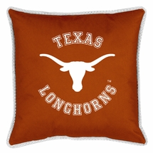 "Sidelines TEXAS LONGHORNS 17"" Square Pillow"