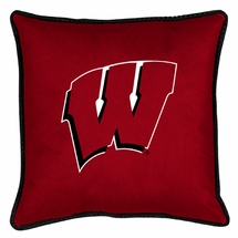 "Sidelines WISCONSIN BADGERS 17"" Square Pillow"