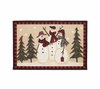 Snowmen Gathering Holiday Bathroom Rug By Avanti